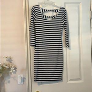 Black and white striped Nordstrom dress
